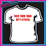 ADULTS FUNNY SLOGAN MERRY CHRISTMAS HO HO HO TSHIRT